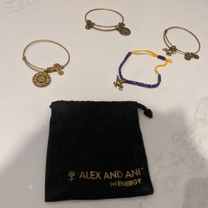 Rare Alex and Ani Disney Alladin Custom Bracelets